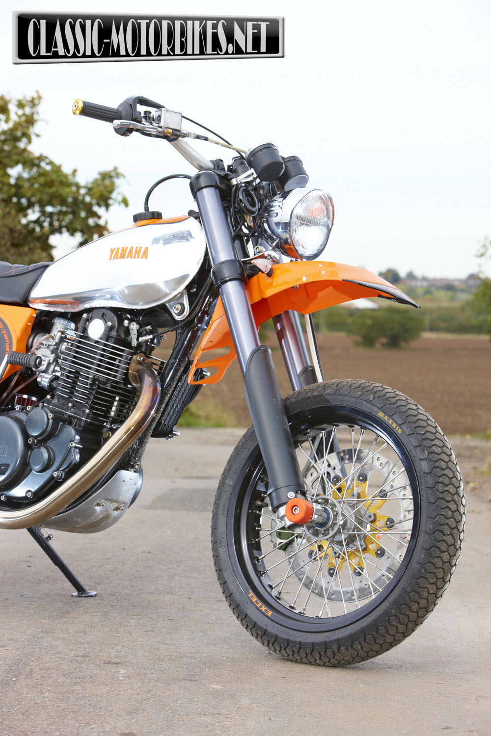 Racing Caf    Yamaha XT 500 Supermoto by Dave Newitt