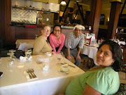 Manohara (in the front) generously brought me to this restaurant twice .
