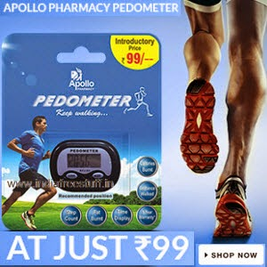Buy Apollo Pharmacy Pedometer Keep Walking for Rs.139 at Flipkart: Buytoearn