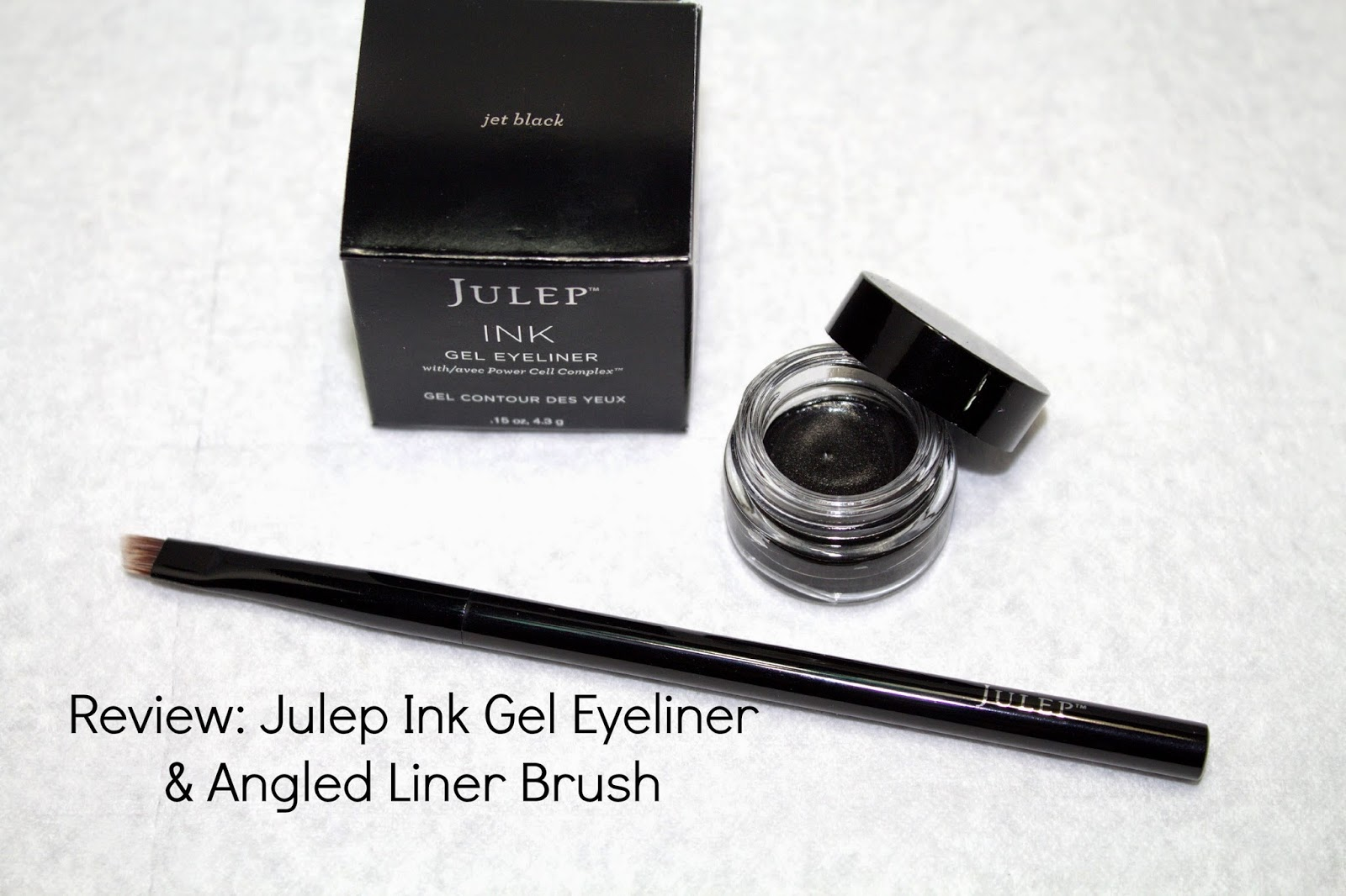 Julep Ink gel eyeliner, Julep angled liner brush, review, @girlythingsby_e
