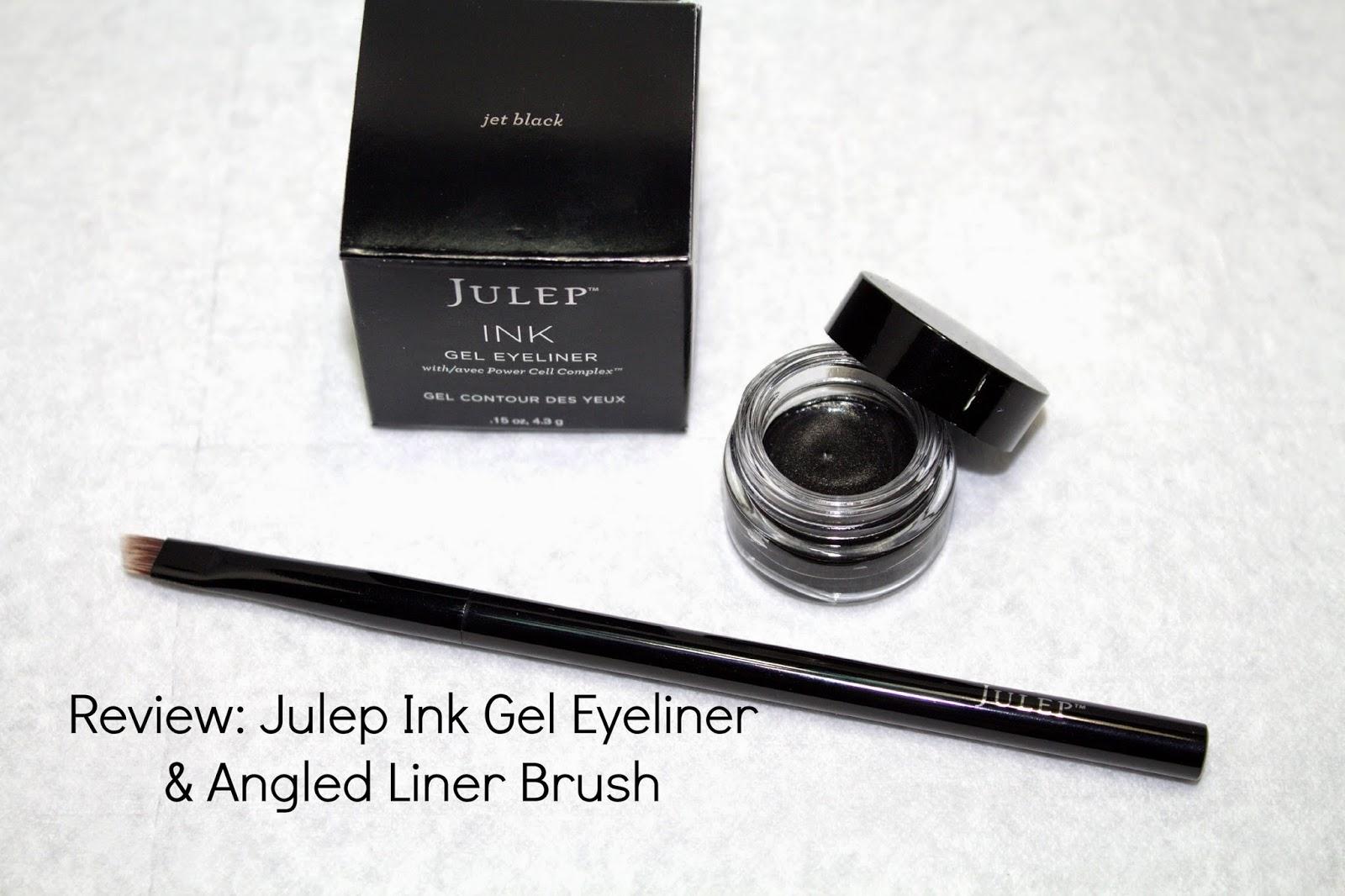 Julep Ink gel eyeliner, Julep angled liner brush, review, @girlythingsby_e