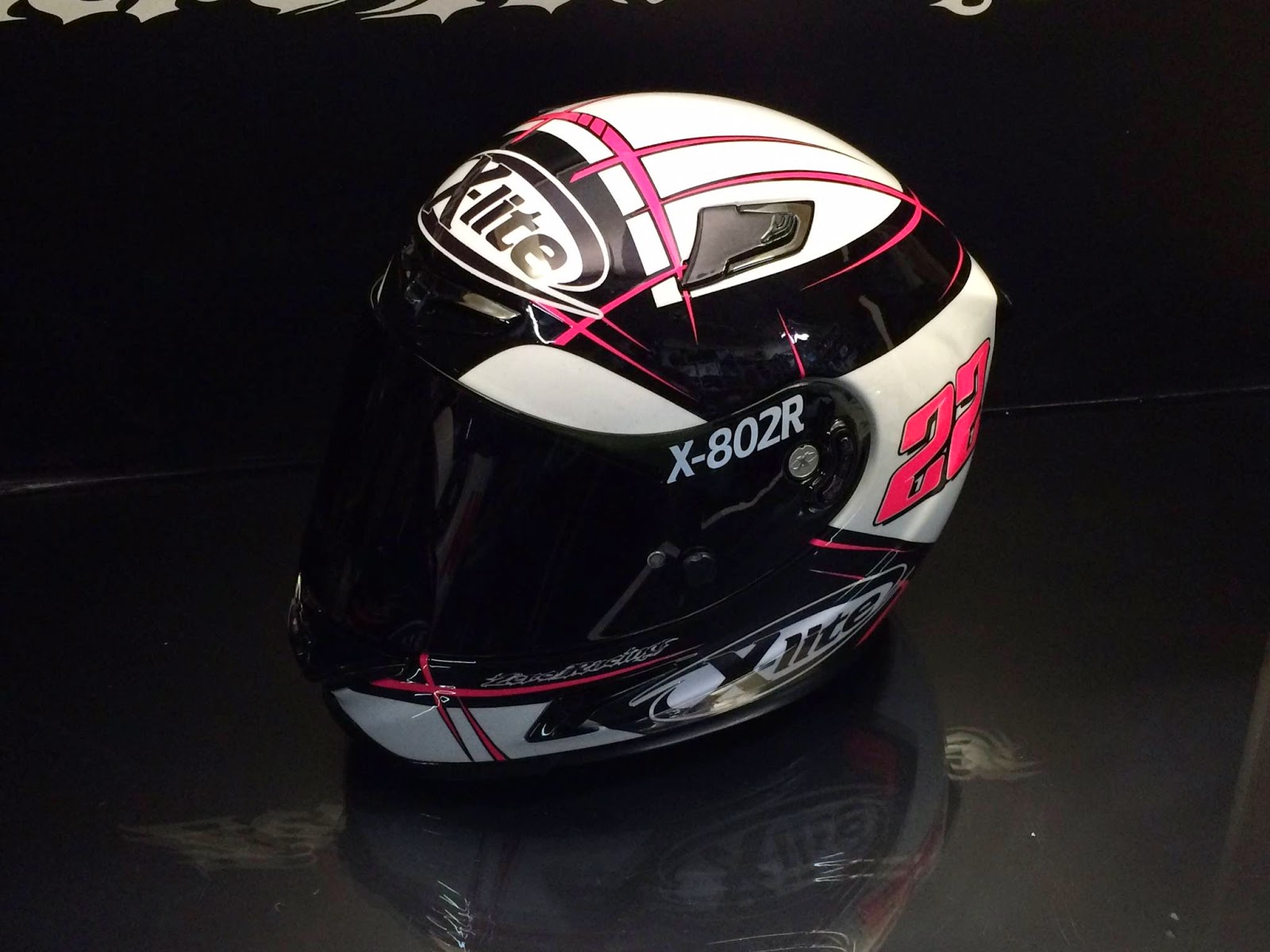 racing helmets garage x lite x 802r a carrasco winter. Black Bedroom Furniture Sets. Home Design Ideas