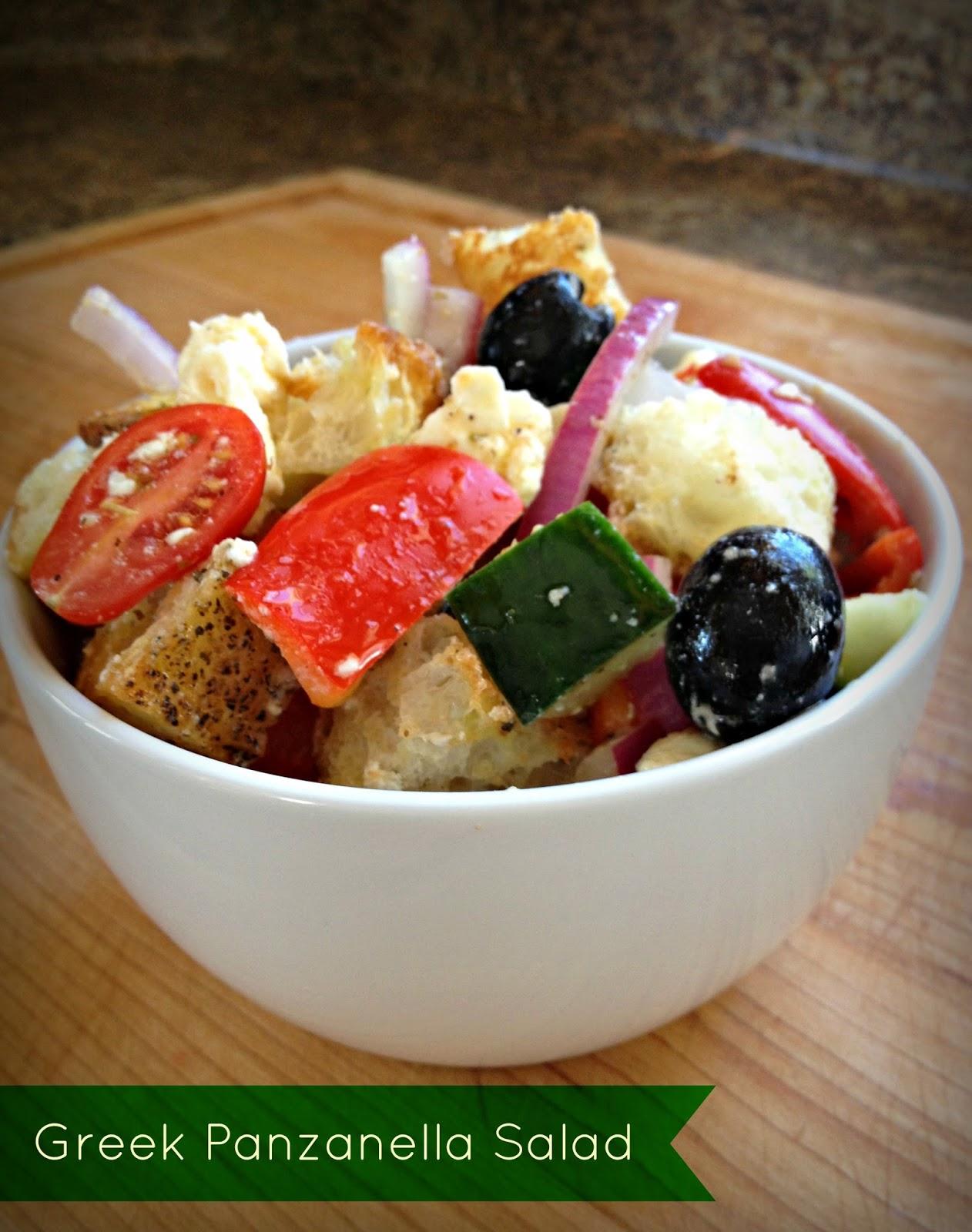 Hi Line Healthy Greek Panzanella Salad