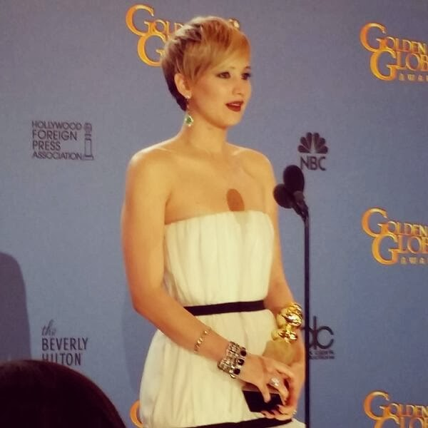 Jennifer Lawrence wins Best Supporting Actress at 2014 Golden Globes