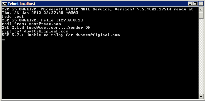 From There It Was An Easy Process To Enable Relaying In The IIS 6 Management Console