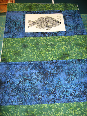 Mary Corbet's embroidered fish