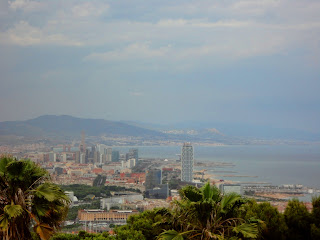 View of the city's beautiful coast from Mont Juic!