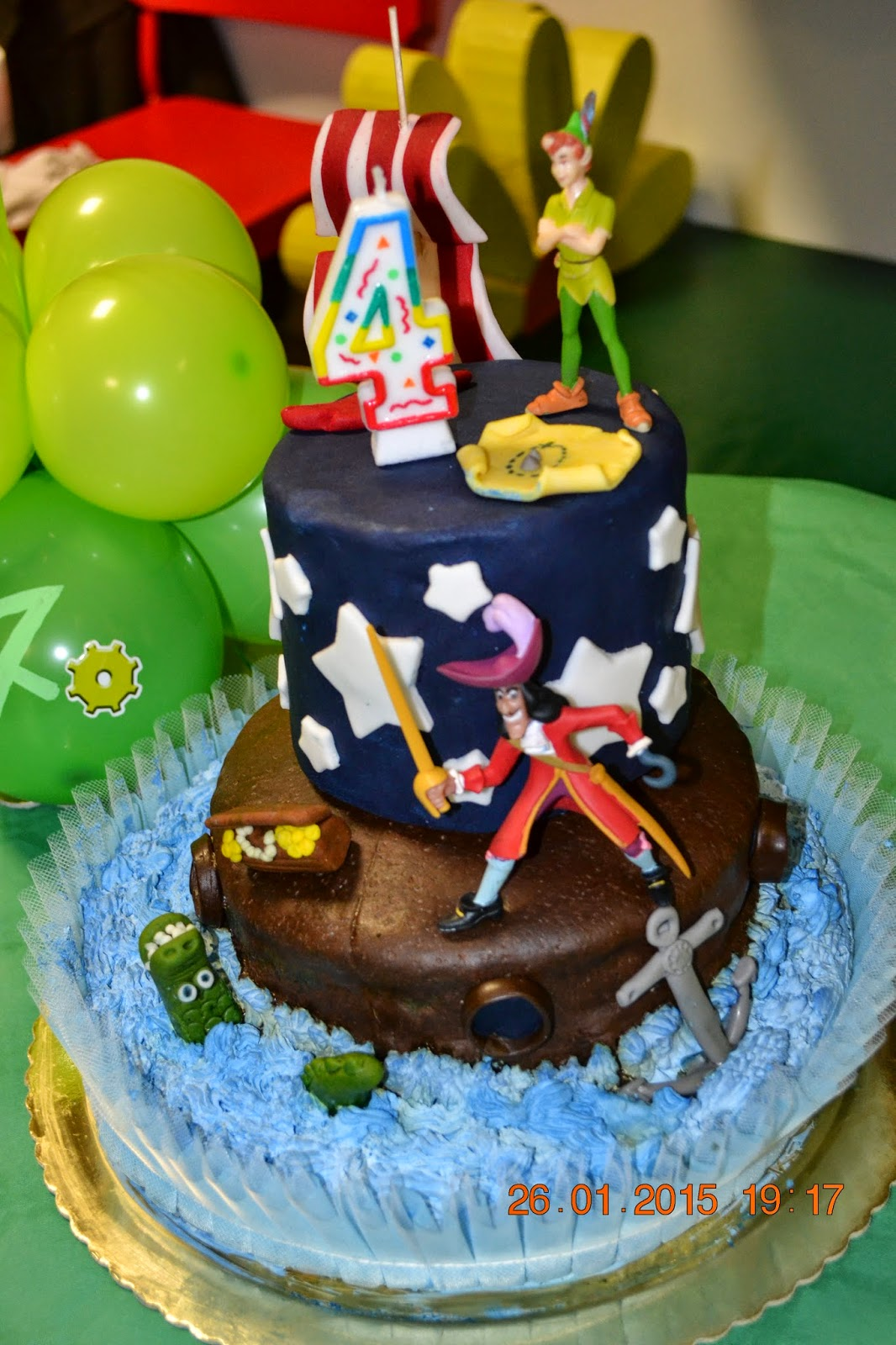 torta, compleanno, peter pan