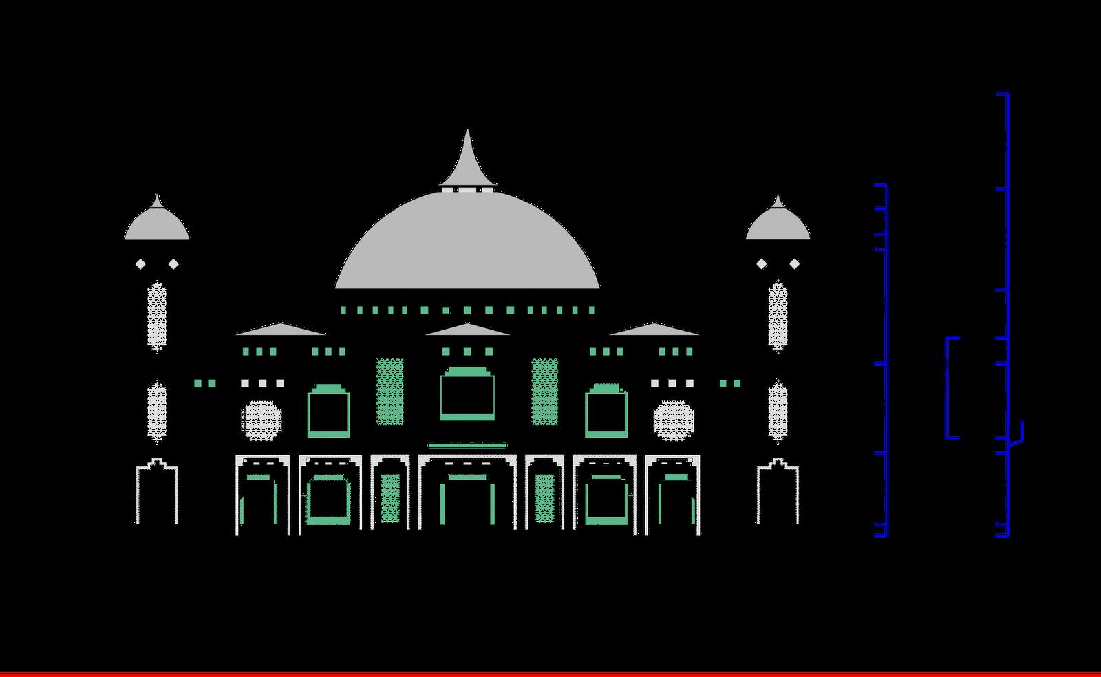 masjid 2d drawing