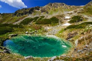 Glacier lake in Fagaras Mountains