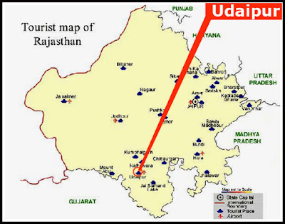 Udaipur Map