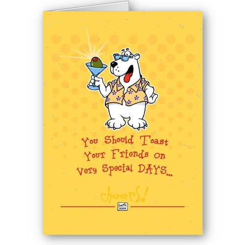 Funny Happy Birthday Greeting Card: Birthday Wishes For Friends Funny