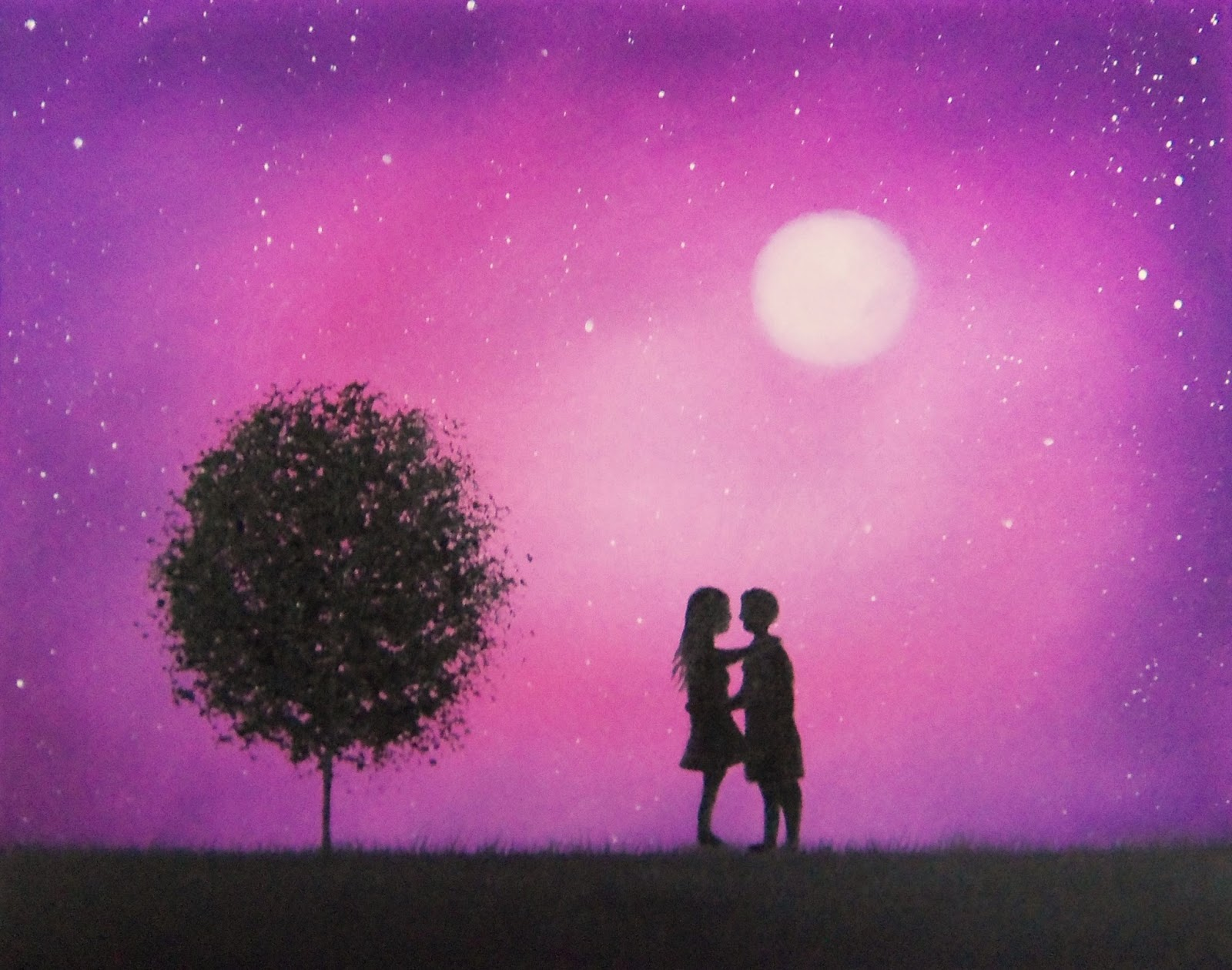 32   Best Silhouette Paintings Of for Silhouette Paintings Of Couples  557ylc