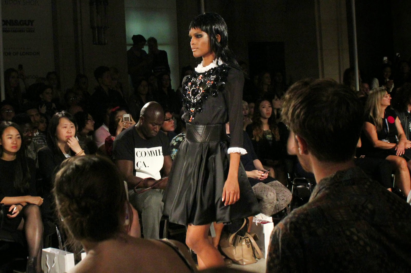 london-fashion-week-2014-lfw-spring-summer-2015-blogger-fashion-Dora-Abodi-catwalk-models-freemasons hall-fashion-scout-top-skirt