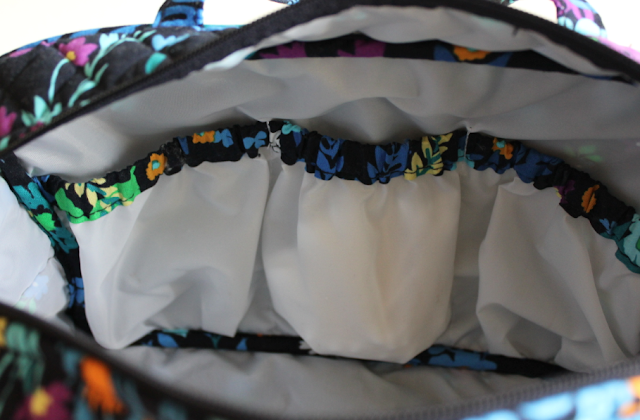Vera Bradley Grand Cosmetic Review pockets interior travel