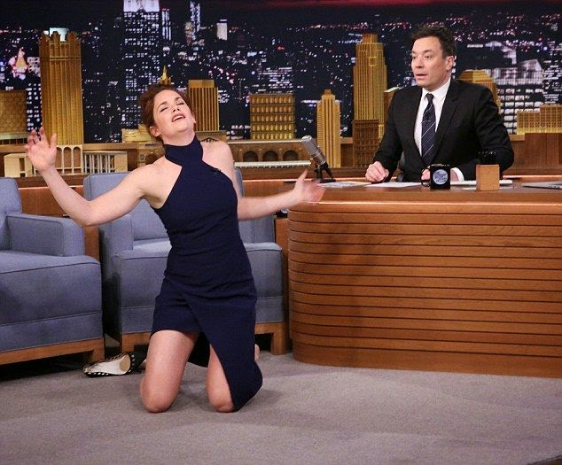 The 33-year-old has a phenomenal figure and she had no problem to showing it off during her apperance to Jimmy Fallon's Tonight show at Los Angeles on Thursday, February 19, 2015.
