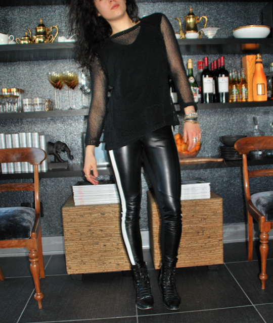leather lover-sandro paris leather leggings mother's closet zara alexander wang loveyourself ootd aleexander wang