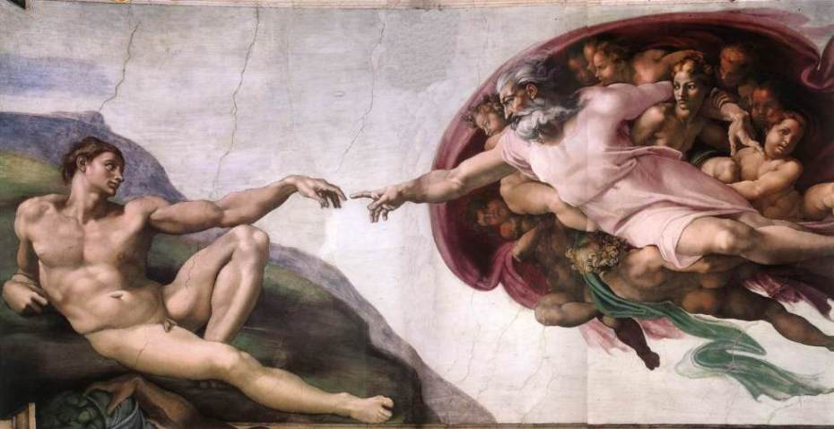 "Buonarrotti, ""Dios a imagen y semejanza de un pederasta"", Capilla Sixtina, Vaticano, Roma (c.1511)"