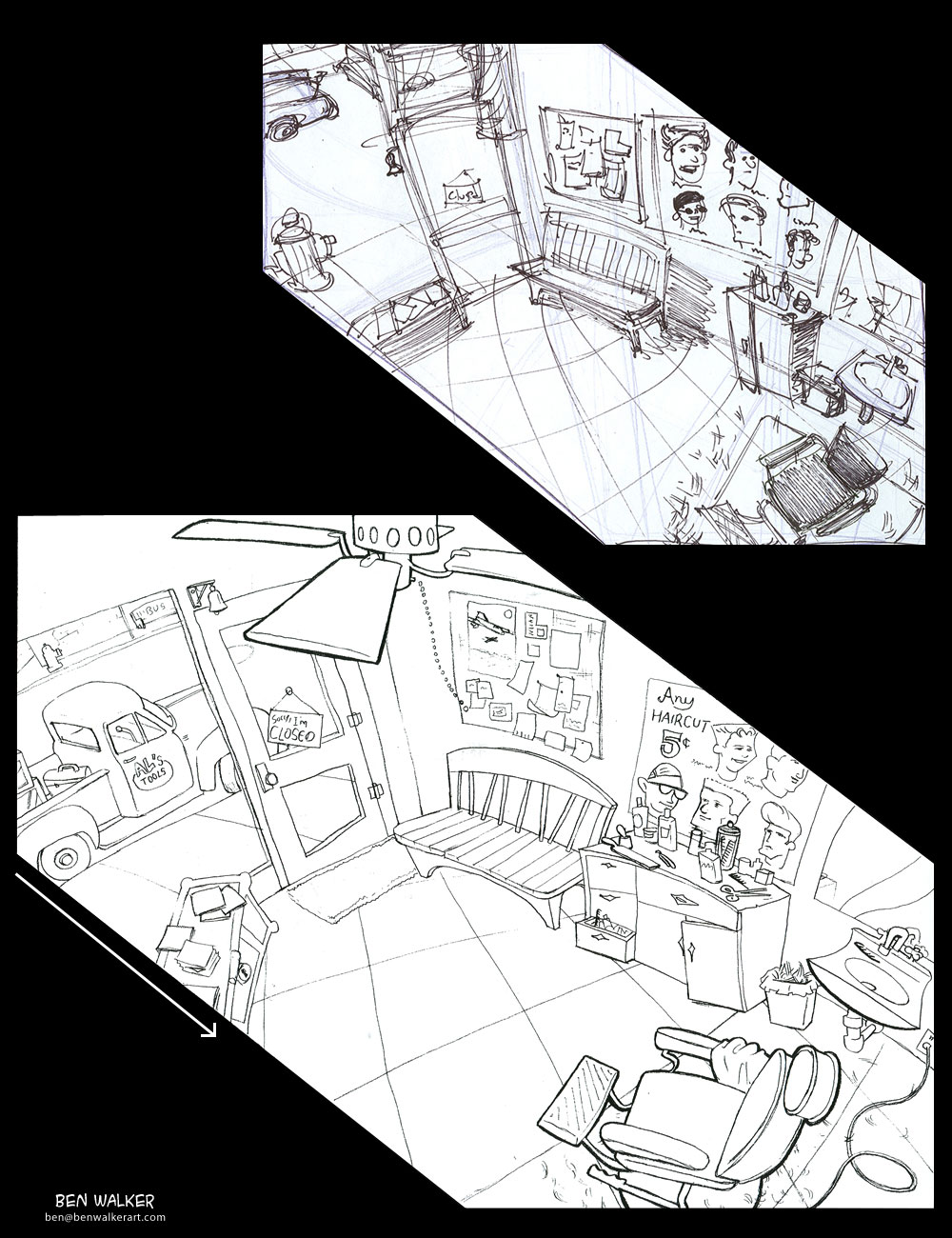 Character Design Layout : Art of ben walker character design and layout for animation