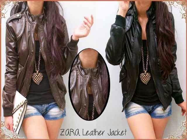 New Zara Leather Jacket