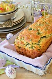 Plumcake salato con uova e spinaci
