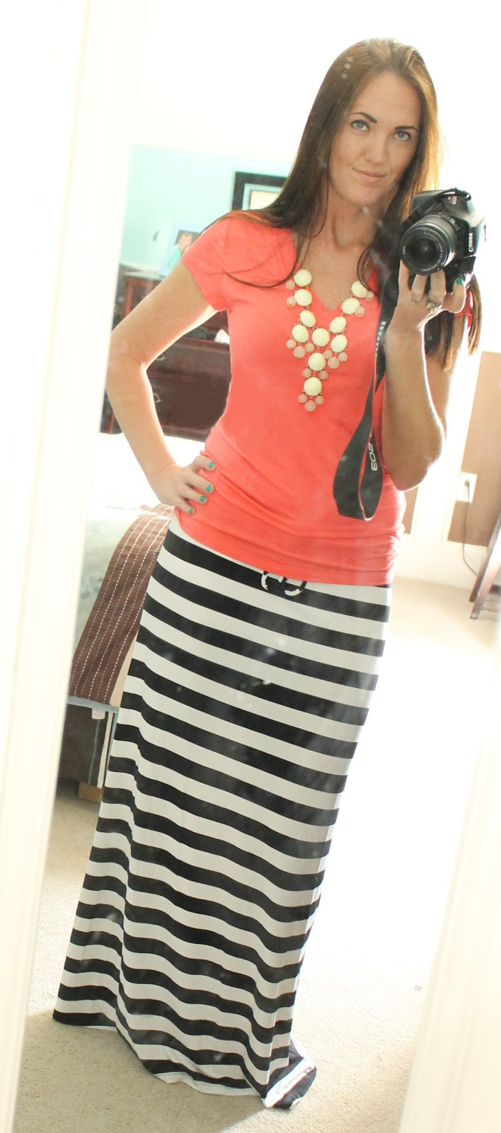 california to carolina black white maxi skirt 3 ways