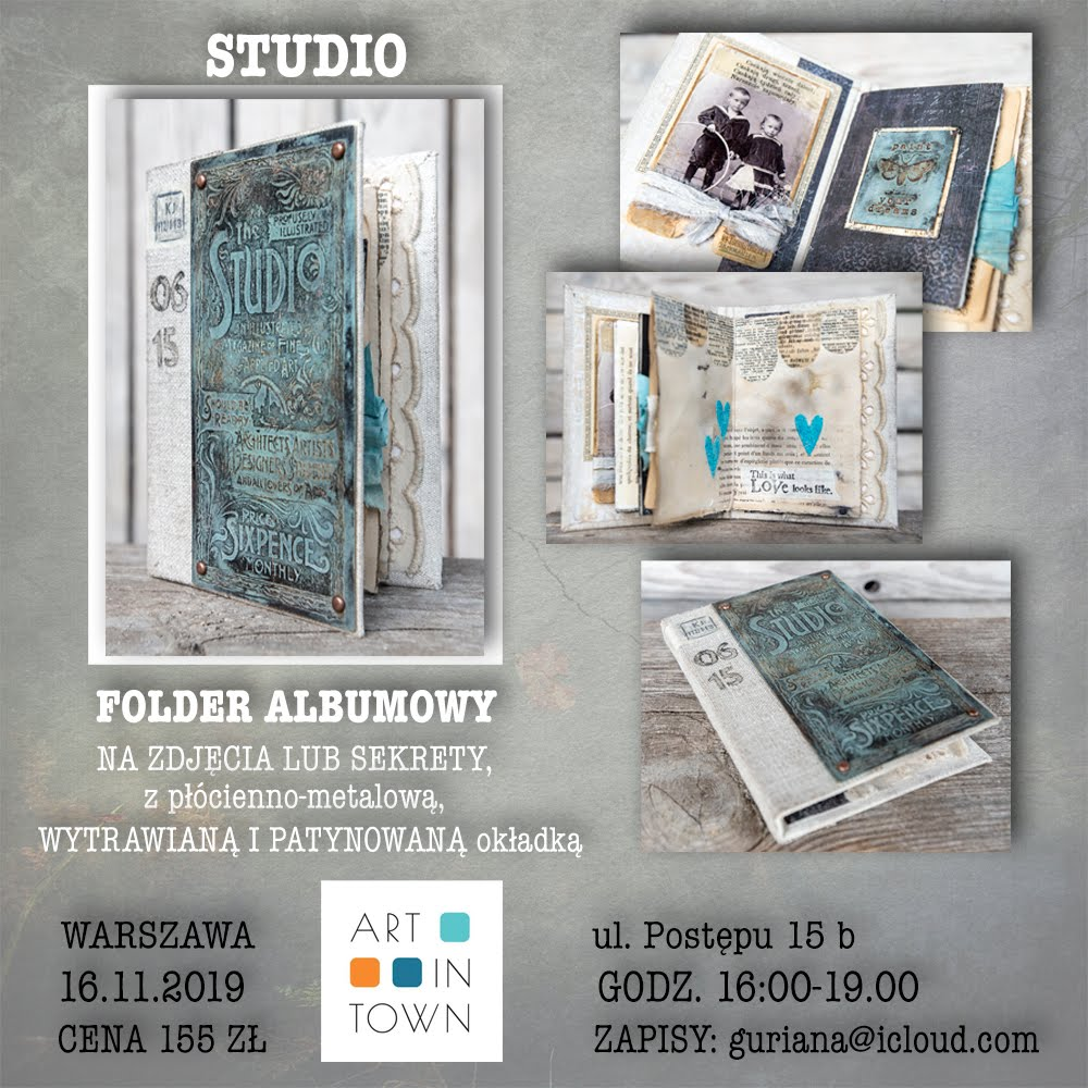 Art in Town -  Warszawa- folder wytrawiany STUDIO