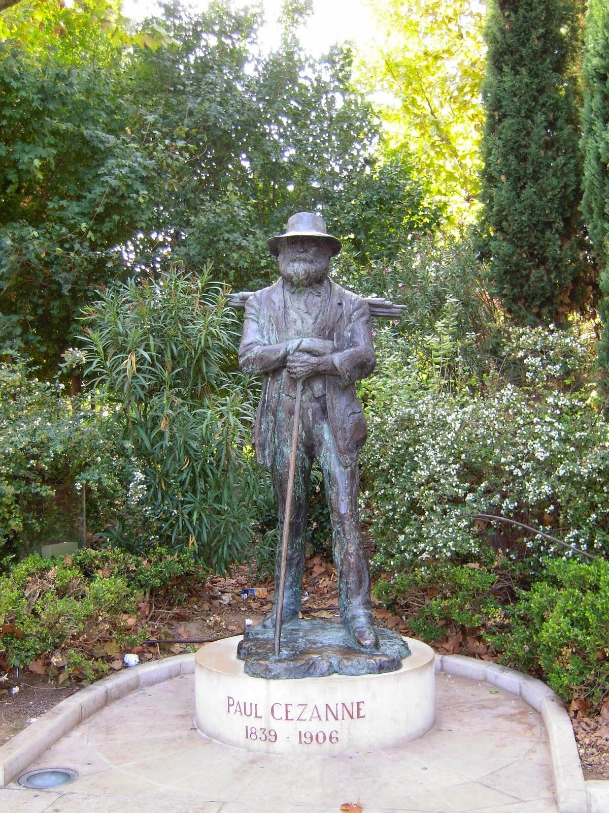 statue cézanne aix en provence