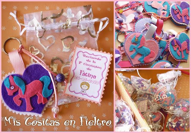 fieltro, felt, Primera Comunión, souvenir, caballo,, llavero