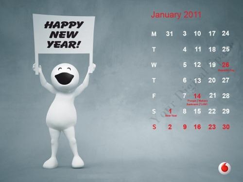 Vodafone ZooZoo Calendar 2011