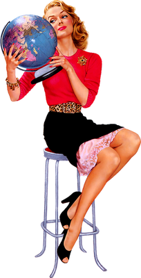 imagen png pin up retro