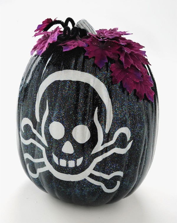 Sparkle-Up Skeleton Pumpkin from Mod Podge Rocks