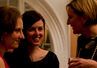 Heather Williams, Louise Crane and Lucy Harper at the ScienceGrrl Calendar launch party
