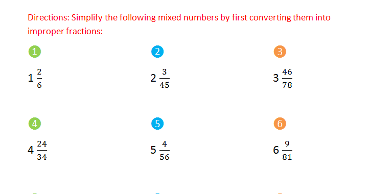 Bro and Sis Math Club: Simplifying Mixed Numbers
