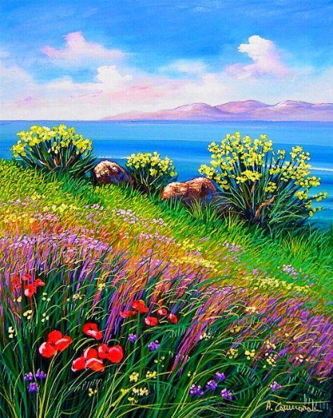 Primavera pittori naif arte le stagioni e i pittori for Sfondi naif