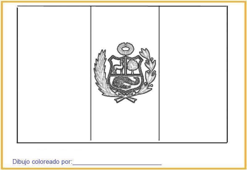 COLOREA TUS DIBUJOS: Bandera del Pais de Peru para Colorear y Pintar