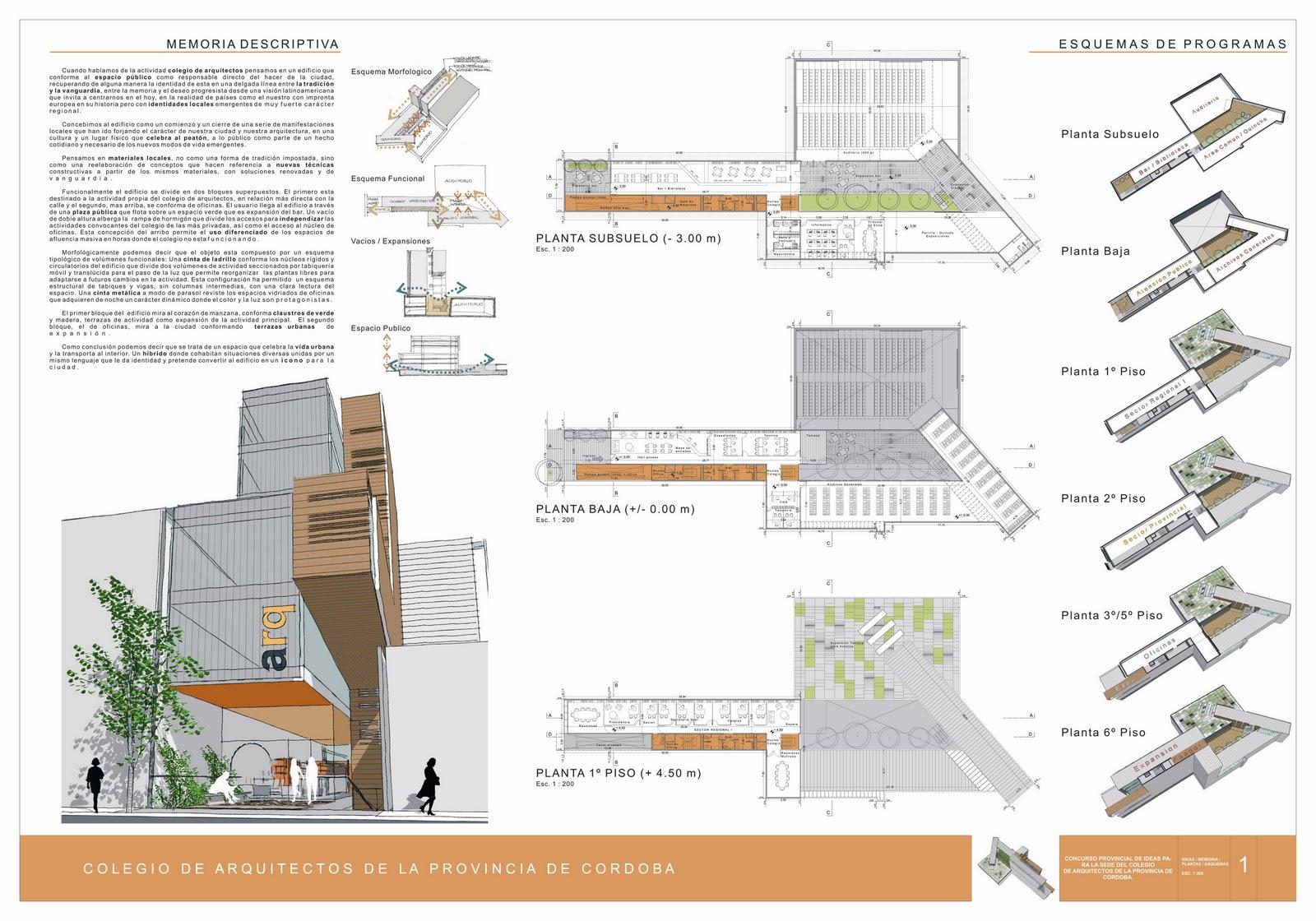 B b arquitectura concursos colegio de arquitectos de la - Colegio de arquitectos de cordoba ...