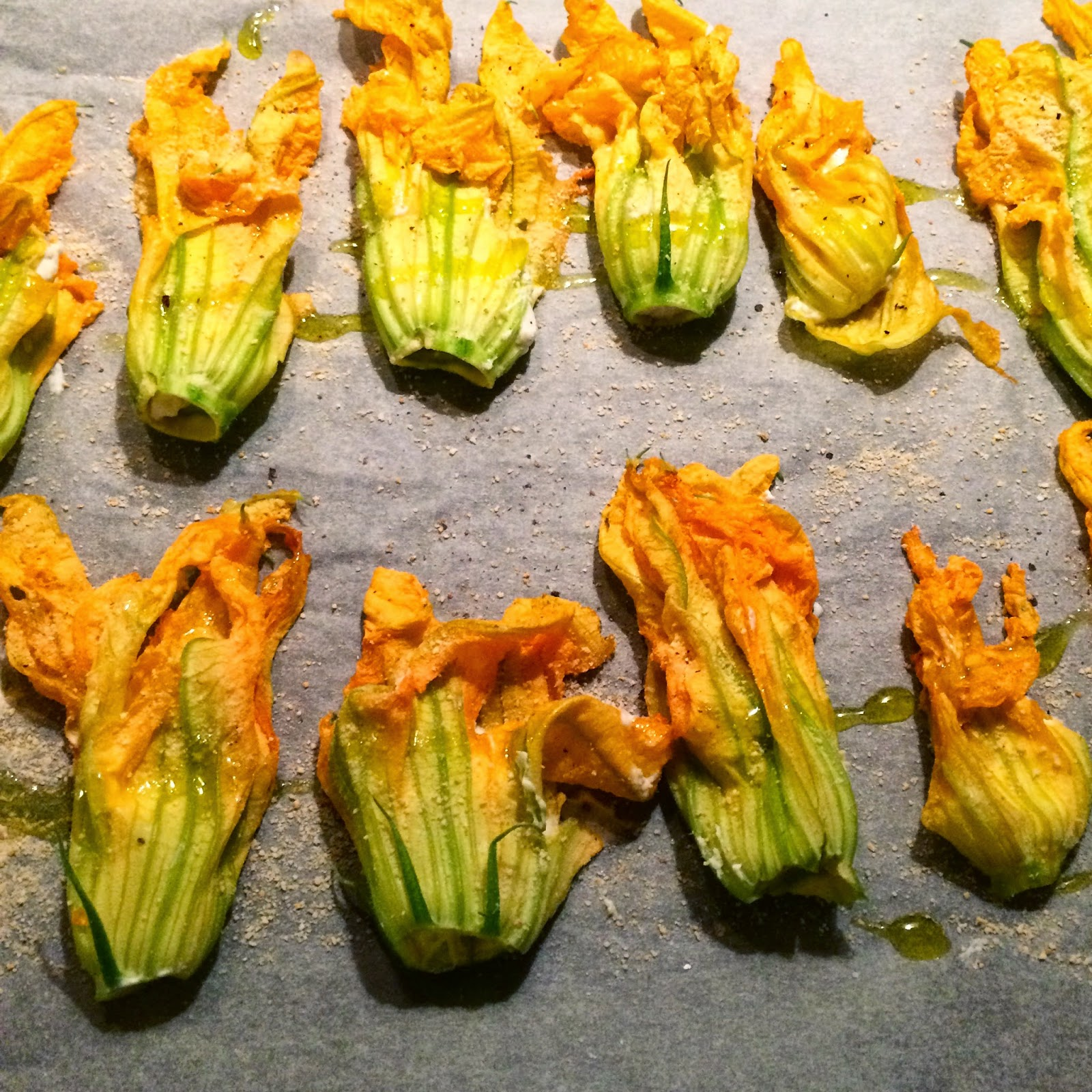 fiori di zucca ripieni light