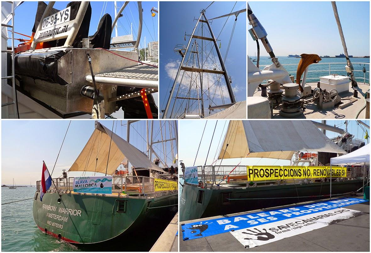 El barco de Greenpeace, Rainbow Warrior III en campaña Prospecciones NO