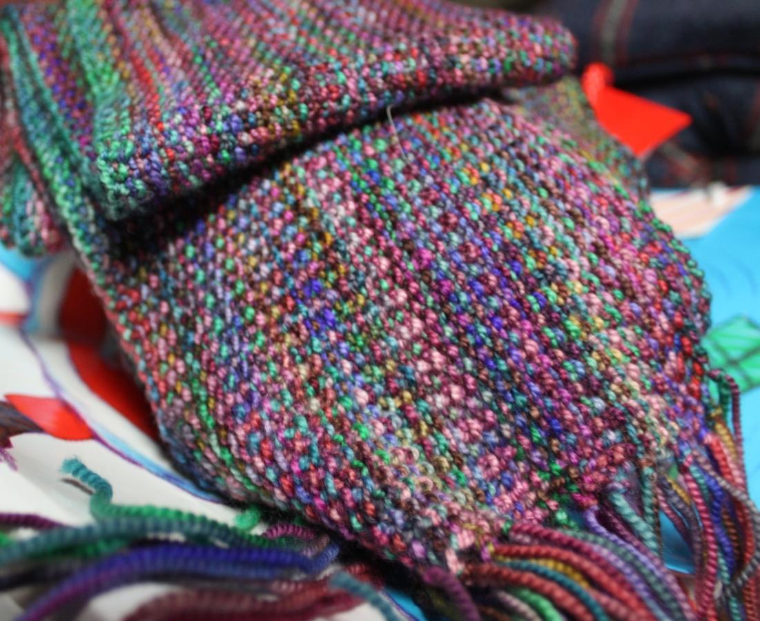 Sandpiper Creates: Koigu Linen Stitch Scarf