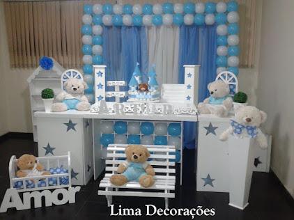 Chá de Bebê - Azul e Branco