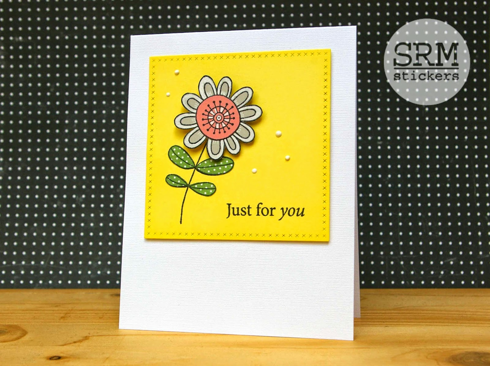 SRM Stickers Blog - Floral Spring Card Set by Lorena - #cards #cardset #giftset #clearstamps #janesdoodles #A2box #clearbox #DIY