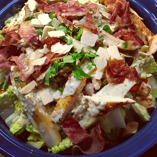 soap|kitchen|style: Caesar-Salad nach Jamie Oliver