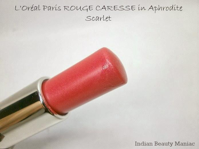 L'oréal Rouge Caresse lipstick in 06 APHRODITE SCARLET Bullet 2