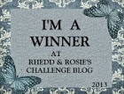 Rhedd and Rosie Texture Challenge Winner May 2014