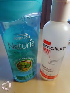 Joanna, Naturia, szampon z pokrzywą i zieloną herbatą/Nepentes, Emolium