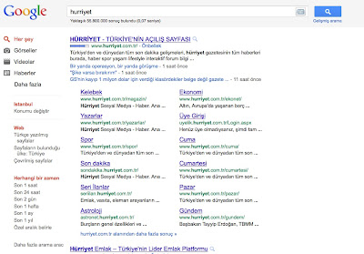 Yeni Google Arama Sorgusu