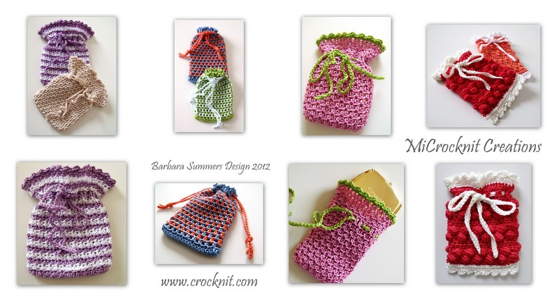 Free Crochet Pattern For Gift Bags : MICROCKNIT CREATIONS: GIFT OF GIVING - SMALL IS GOOD
