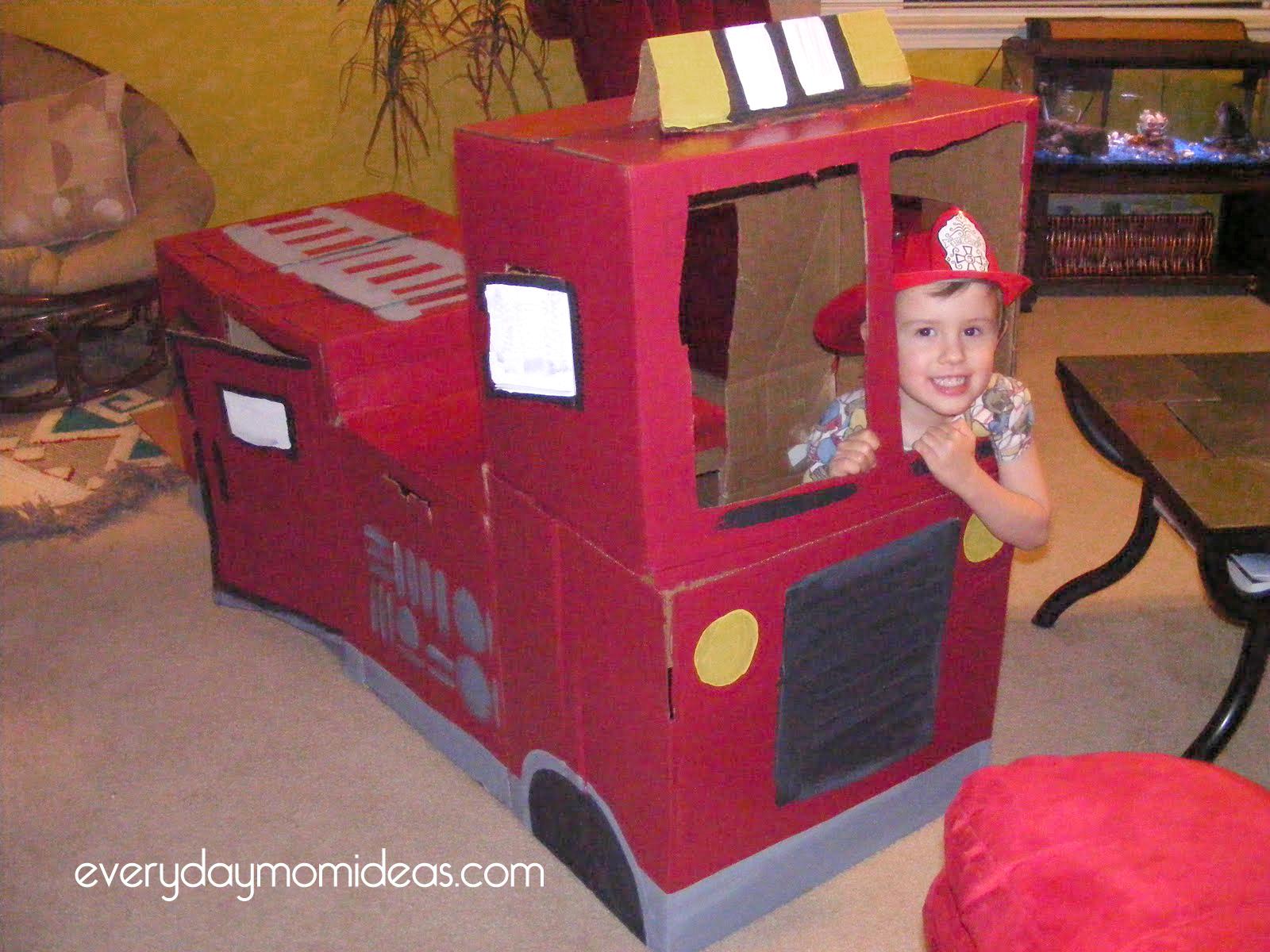 Пожарная машина из картона своими руками инструкция