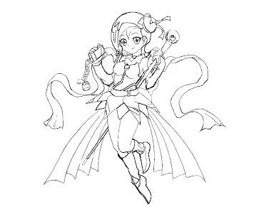 #15 Kotori Mizuki Coloring Page